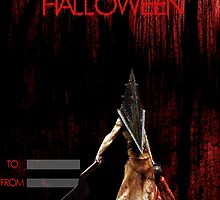 Pyramid Head wish you a happy Halloween by thescudders