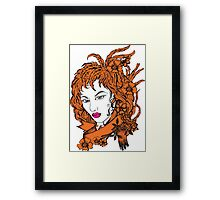Woman of my love Design t-shirt Framed Print
