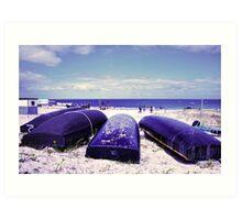 Summer by the beach Art Print
