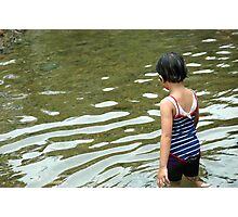 girl playing in the water Photographic Print