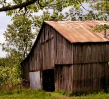 Another Spring ~ the Old Barn Still Stands Sticker