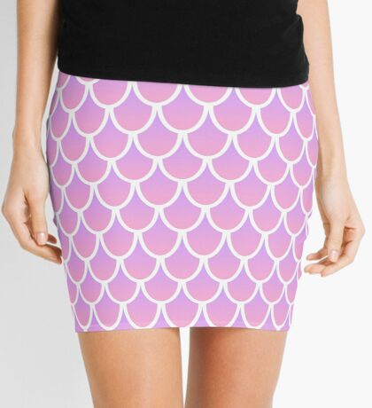 Pink Mermaid Scale Mini Skirt