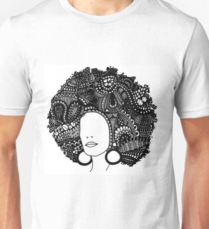 Pen & Ink  Drawing | Women's Afro  Unisex T-Shirt