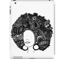 Pen & Ink  Drawing | Women's Afro  iPad Case/Skin