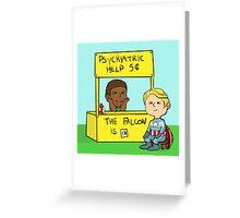 Sam Wilson and Steve Rogers Greeting Card