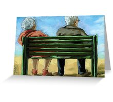 Waiting - figurative oil painting Greeting Card