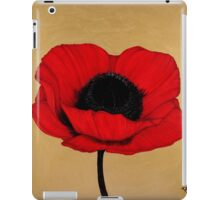 Red Poppy Floral Art Print iPad Case/Skin