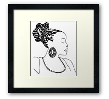 Pen & Ink  Drawing | Women's Updo. Framed Print