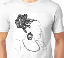 Pen & Ink  Drawing | Women's Updo. Unisex T-Shirt
