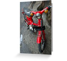old motorcycle Greeting Card