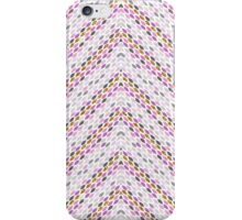 Pink gold faux glitter abstract leaves zigzag iPhone Case/Skin