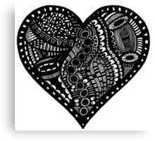 Pen & Ink  Drawing | Heart Canvas Print