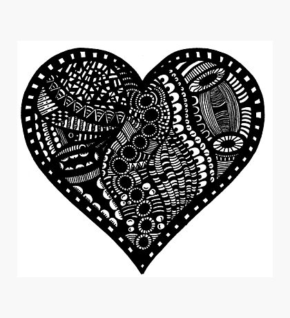 Pen & Ink  Drawing | Heart Photographic Print