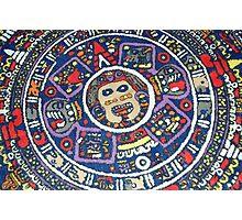 aztec calendar Photographic Print