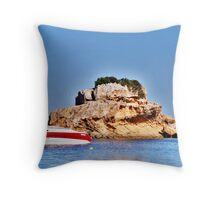 With the sun on her back.... Throw Pillow