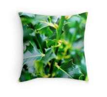 green prickles Throw Pillow