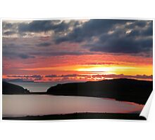 Sunset over Loch Spiggie  Poster