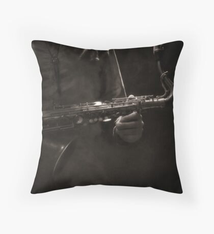 Hold on to your Sax... Throw Pillow