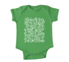 Pile of White Bicycles One Piece - Short Sleeve