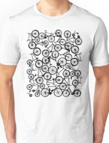 Pile of Black Bicycles Unisex T-Shirt