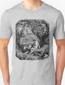 Adam and Eve in the garden of Eden T-Shirt