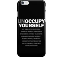 unoccupy yourself (black) iPhone Case/Skin