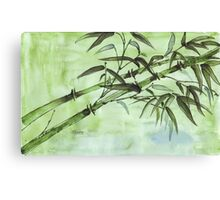 Stems of bamboo Canvas Print