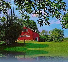 Summer Camp Barn building  by Rick  Todaro