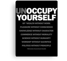 unoccupy yourself (black) Canvas Print