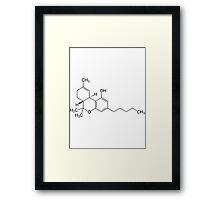 THC Molecule Framed Print