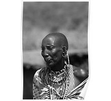 Revered elder tribes woman Poster