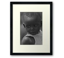 Sad boy - Masai Tribe - Kenya Framed Print