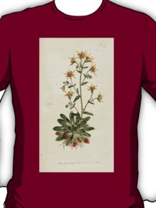 The Botanical magazine, or, Flower garden displayed by William Curtis V9 V10 1795 1796 0138 Saxifraga Mutta Saffron Coloured Saxifrage T-Shirt