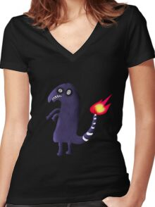 Charmander Tattoo Design Women's Fitted V-Neck T-Shirt
