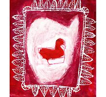 red bird by Shylie Edwards