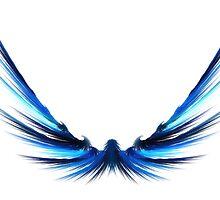 Blue Wings by Claudiu Badea