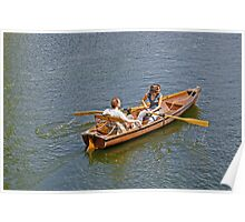 Rowing on the River Avon Poster