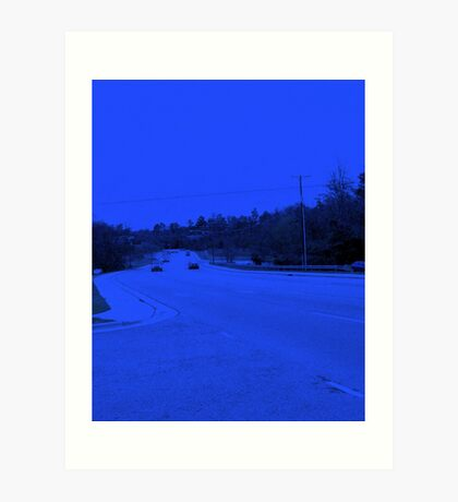 The highway has the blues Art Print