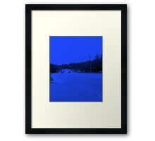 The highway has the blues Framed Print