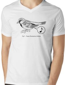 Passer Domesticus Inflatio Mens V-Neck T-Shirt