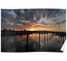 Long Warf Sunset I Poster