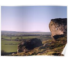 Almscliff Crag and Lower Wharfedale Poster