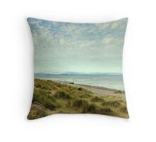 Findhorn Beach Throw Pillow