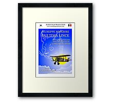 Giuseppe Migliori - L'ultima Lince - Official poster Framed Print