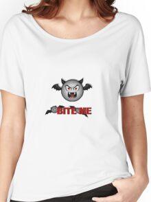 VAMPY BAT BITE ME Women's Relaxed Fit T-Shirt