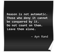 Ayn Rand quote [white] Poster