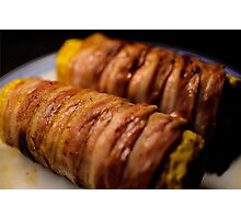 Bacon rolled Corn Photographic Print