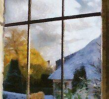 Winter Sun in Edegem - Belgium by Gilberte