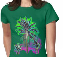 Multi Palms Womens Fitted T-Shirt
