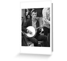 Street Musician on Banjo Greeting Card